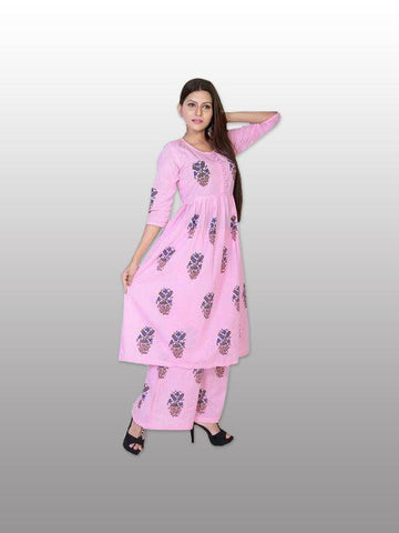 Trapti cotton kurti plazo set