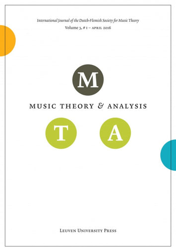 Music Theory and Analysis Volume 3 Issue I, 2016 (Journal Subscription)