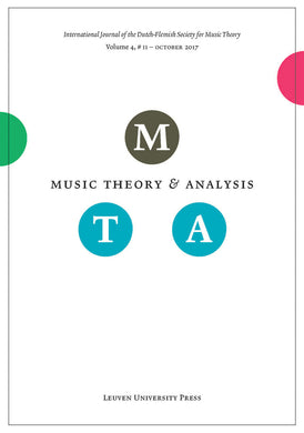 Music Theory and Analysis Volume 4 Issue II, 2017 (Journal Subscription)