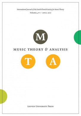 Music Theory and Analysis Volume 4 Issue I, 2017 (Journal Subscription)