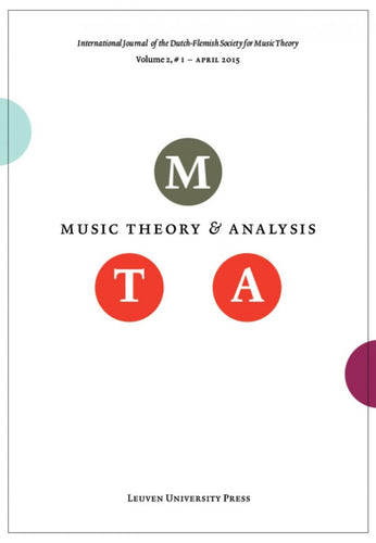 Music Theory and Analysis Volume 2 Issue I, 2015 (Journal Subscription)