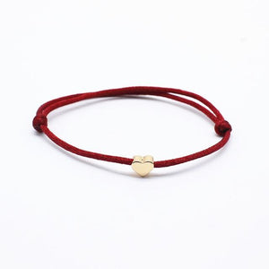 Bracelet couple en corde ajustable