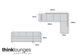 The Quality Sleep White Chaise Lounge Sofa features an L shape Design