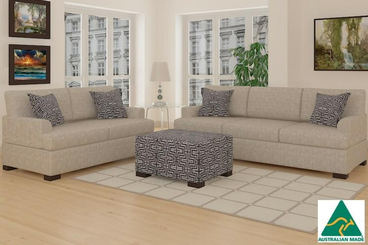 Bahama 2 And 3 Seater Straw Linen Sofa Think Lounges Quality Sleep