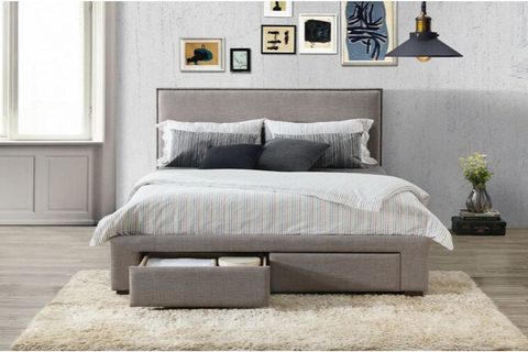 Citta | Queen Bed Frame | Grey