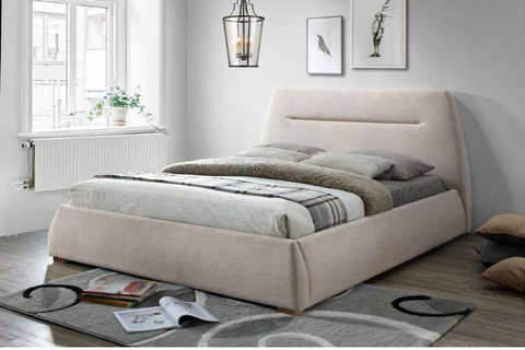 Milan | Queen Bed Frame | Beige