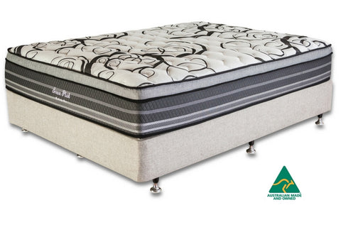Order your new Serene Plush ensemble from Quality Sleep with Free Fast home delivery to Brisbane and Gold Coast mattresses online interest free beds