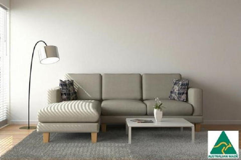 York 3 Seater + Chaise ( Natural )