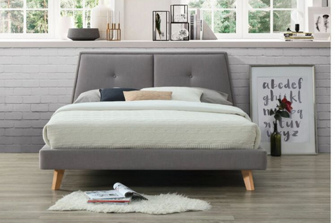 Freya | Queen Bed Frame | Grey