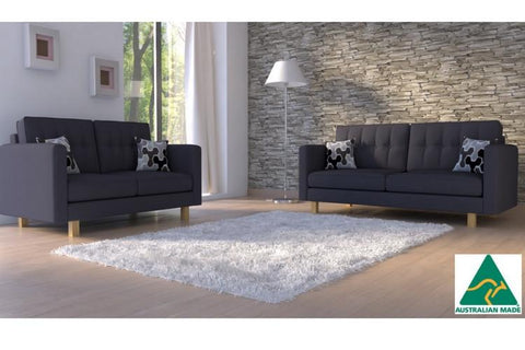London 2 + 3 Seat Sofa Set (charcoal)