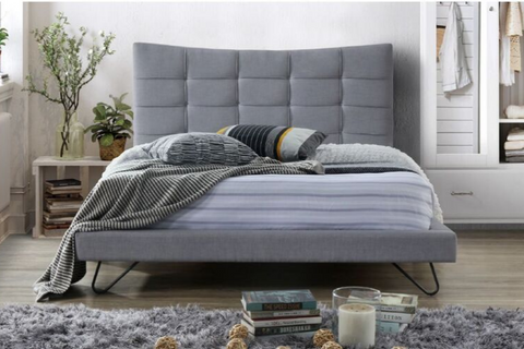 Karla | Queen Bed Frame | Grey