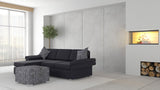 Wembley 2.5 + Chaise ( Black )