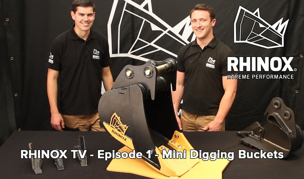 RHINOX TV - Episode 1 - Mini Digging Bucket Range!
