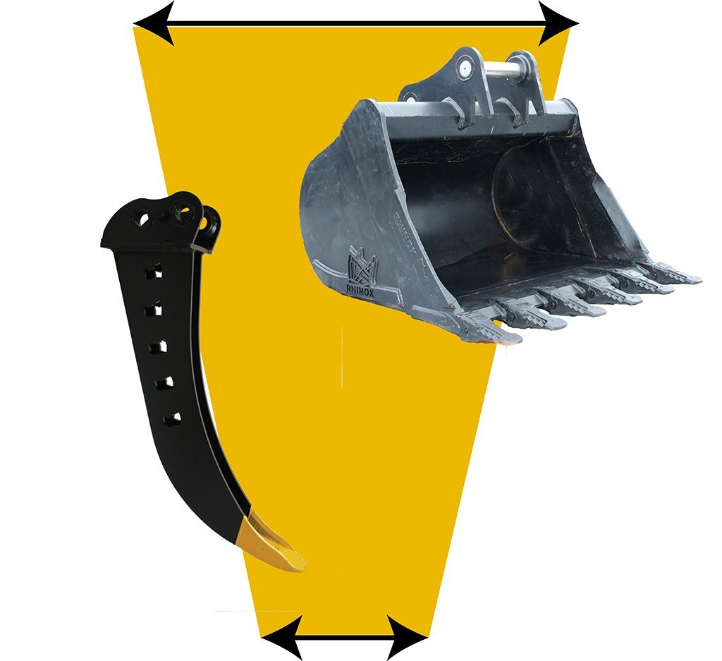 What is the narrowest bucket I can fit to my digger?