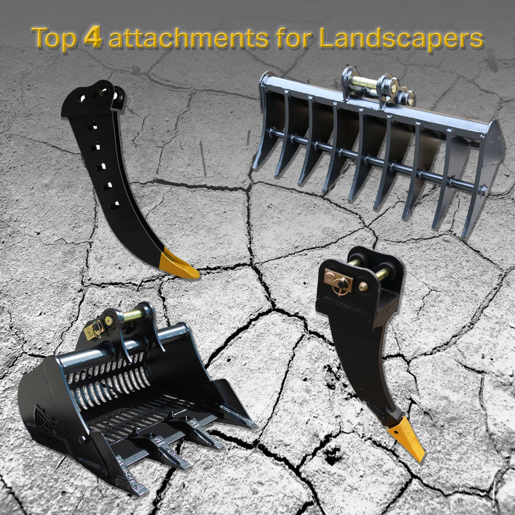 Top 4 Excavator attachments for Landscapers