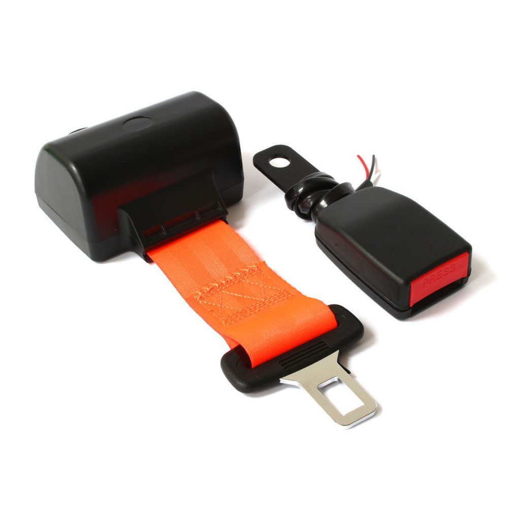 Hi-Vis Retractable Seatbelt - Wired For Use With Green Beacons