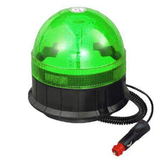 LED Magnetic / Suction Cup Mounted Flashing Beacon - Green 12/24V