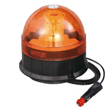LED Magnetic / Suction Cup Mounted Flashing Beacon - Amber 12/24V