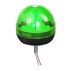 LED Single Bolt Mounted Flashing Beacon - Green 12/24V