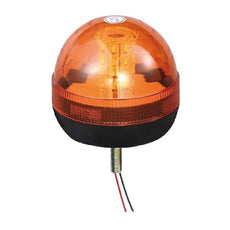 LED Single Bolt Mounted Flashing Beacon - Amber 12/24V