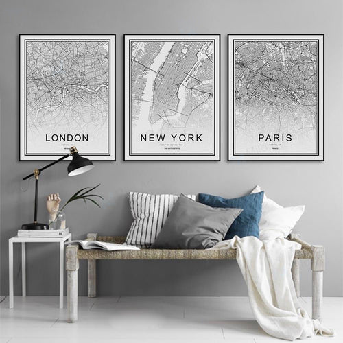 NEW: Cartographie chic Noir & Blanc