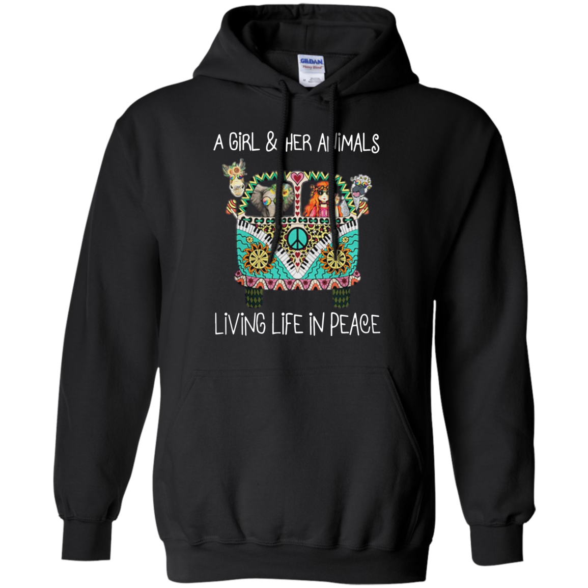 A Girl And Her Animals Living Life In Peace - Shirts