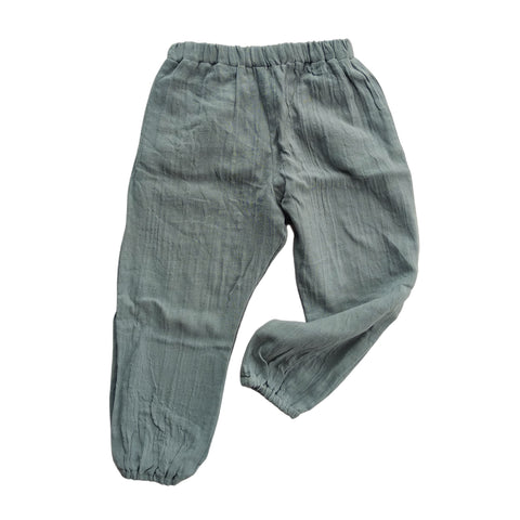 Unisex balloon pants in tinsel grey organic cotton