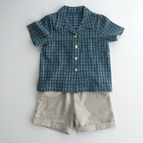 Sail away shirt & shorts set in Indigo