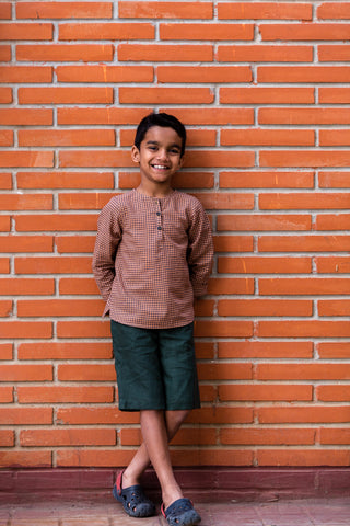 Delhi shirt and shorts set in COCOA