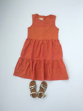 Layer dress in flaming orange
