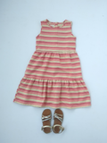 Layer dress in orange stripe