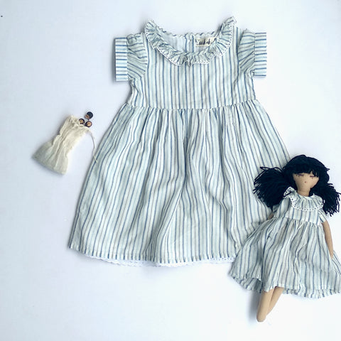 Mary dress in hand loom cotton