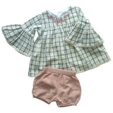 Hana tunic and bloomers set in checks