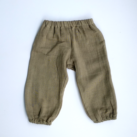 Unisex balloon pants in sandstone