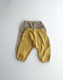 Unisex balloon pants in sandstone organic cotton