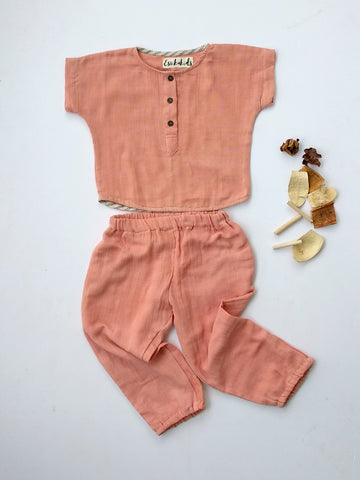 Tea time shirt in salmon