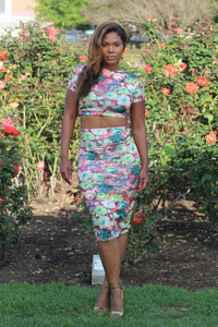 Flowered 2 Piece Set