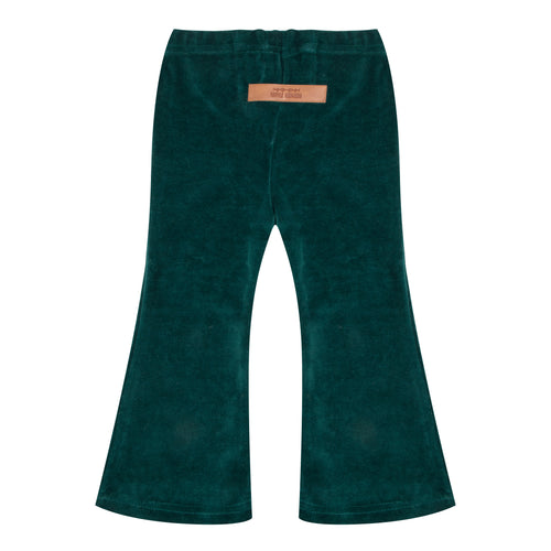 Flared Pants Pine Trees Green