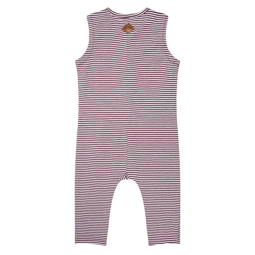 Jumpsuit Palm - Purple Stripe