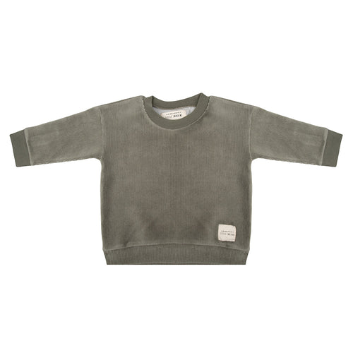 Boxy Sweater - Corduroy Green