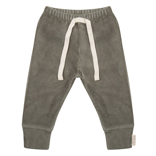 New Born Legging - Corduroy Green