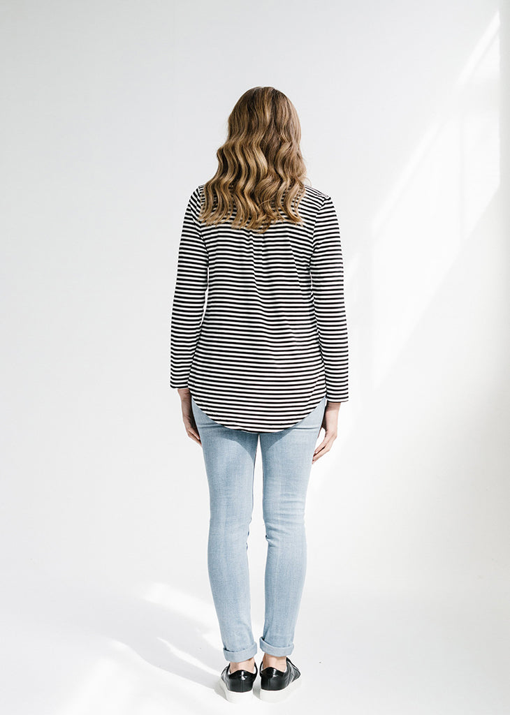 Blake Long Sleeve Striped Tee