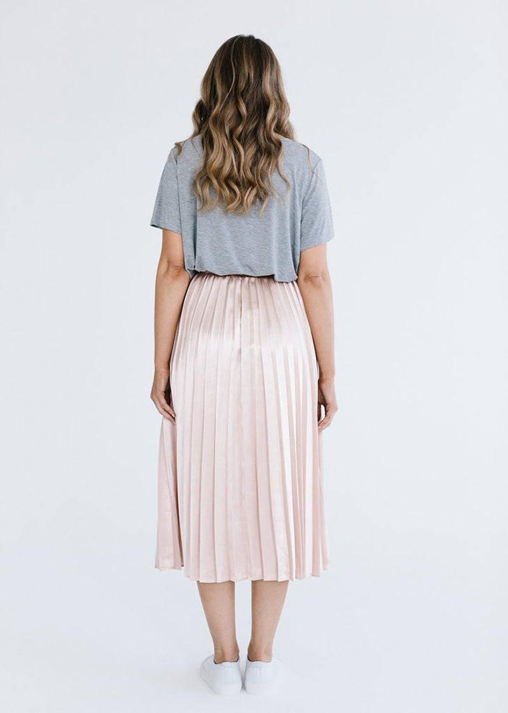 No Reservations Pleated Skirt - Pink