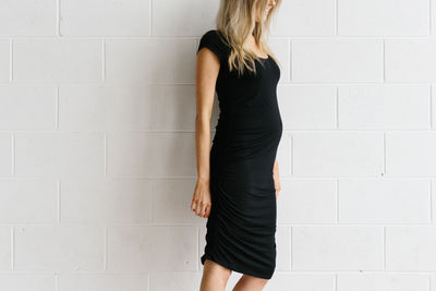 Black Bailey Tee Dress