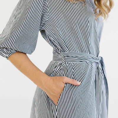 Stripe Casey Dress