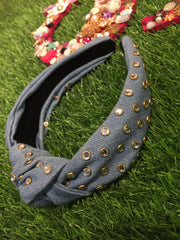 Sky Blue Denim Hairband