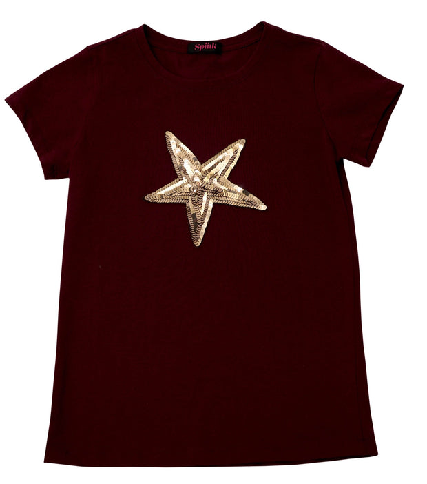 Star Wine Red Tee