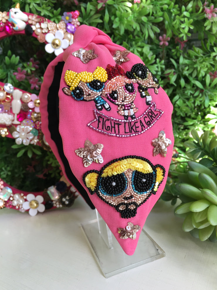 Fight Like A Girl Turban Hairband
