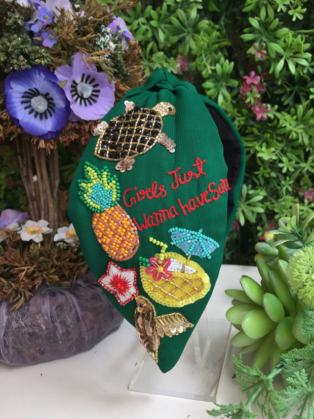 Aloha Dark Jade Turban Hairband