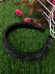 Black Metallic Shimmer Hairband